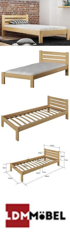 Wie gefällt Euch Kombination von Holz und Mauer??🤔🤔 Das Zimmer sieht sehr modern und elegant aus. 👍👍  #Bett #Massivholzbett #Jugendbett #Einzelbett #Bettrahmen #BettmitLattenrost #Holz