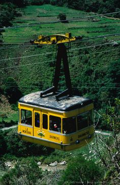 Cable-car travelling up mountain, Merida.