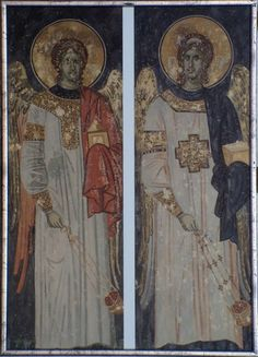 Archangels, Byzantine Art, Therapeutic Art Projects, Old Art, Painting, Art, Wall Painting, Byzantine Icons, Art And Architecture