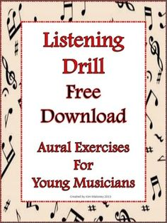Listening Drill Worksheet with teacher answer sheet. FREE download