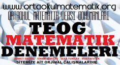 TEOG MATEMATİK DENEMELERİ  4. DENEME EKLENDİ
