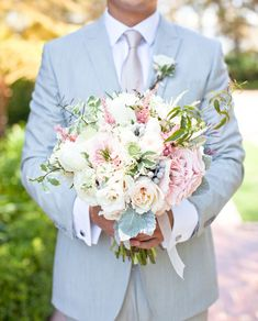 Romantic Wedding at Greystone Mansion: Chriselle + Allen [I don't normally like pastels but I like the colors of the flowers]