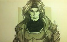 Desenhando Gambit dos X-Men << CARA-Ê-O!!!