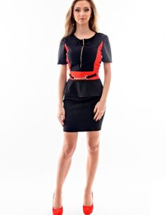 - Material: bumbac, elastan.Culoare: negru, rosu.Daca iti doresti o rochie office, dar comoda, atunci aceasta este rochia care te poate scoate din impas.Produsul se realizeaza la comanda pe dimensiunile dumneavoastra.Produsul nu se returneaza.<br/>Marimi disponibile: S,M,L Colectia Rochii mini de la  www.rochii-ieftine.net