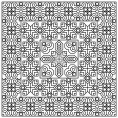 TrioCube Blackwork Cross Stitch Pattern - http://stitchme.gifts/product/triocube-blackwork-cross-stitch-pattern/ Blackwork, Cross Stitch, Cube, Pattern