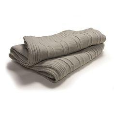 Mink Rosalie Collection Knitted Throw | Dunelm Mill £34