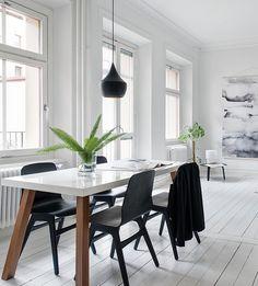 Black and white floors - via cocolapinedesign.com