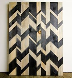 Broken Chevron Wood Wall Art in Art by Wood & Paper Co. on Scoutmob Shoppe. A beautiful broken chevron pattern dyed on an original wall sculpture handcrafted from reclaimed wood.