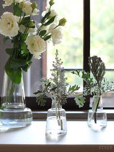 Holmegaard (ホルムガード) / Flora ベース Flower Vases, Flower Arrangements, Flowers, Ikebana, Greenery, Glass Vase, Table Decorations, Interior, Floral