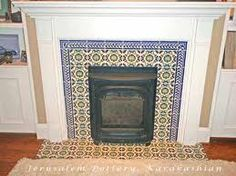 fireplace with tile - Google Search