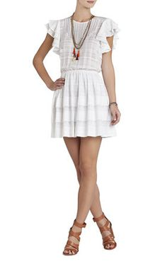 beauty fashion clothing dresses skirts wedding guest bcbgmaxazria sharon layered dress