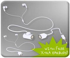 Skunkjuice Earbuds Hvit - Øreplugger. Nå kan du dele musikk med dine venner UTEN å bytte eller dele øreplugger! - Gavetips.