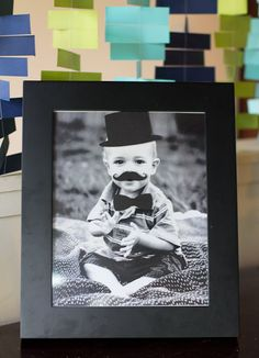 Mustache Bash 1st Birthday Party - Photo Booth - Kara's Party Ideas - The Place for All Things Party