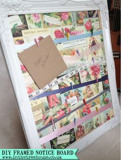 blog version DIY Vintage Style Framed Notice Board or wedding table plan by In the Treehouse