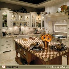 Off white country kitchen cabinets country french kitchen cabinets astounding french country kitchen cabinets photos french Solid Wood Kitchen Cabinets, Country Kitchen Cabinets, Country Kitchen Designs, Kitchen Layout, Kitchen Countertops, Kitchen Country, Kitchen Island, Countryside Kitchen, Kitchen Pics