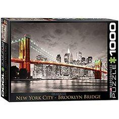 Amanti Art New York Brooklyn Bridge Framed Art Print Manhattan Skyline, Lower Manhattan, New York Skyline, Brooklyn New York, Brooklyn Bridge, New York City, Framed Wall Art, Framed Art Prints, Rainy Day Activities