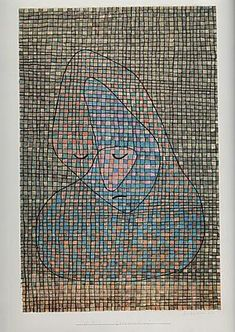 Paul Klee - Grieving 1934 Reproduction Oil Painting