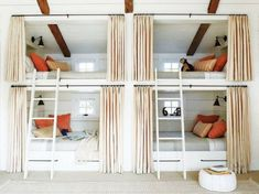 Cubby hole bunk beds