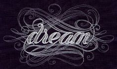 Dream - Wall Art - Embroidery - Calligraphy - Scrolls - Inspire - Motivate - Inspirational Text - Machine Embroidered (UT5563)($25.00 AUD )