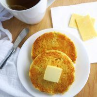 2-Minute Toasted English Muffin (Paleo, Low Carb) - This paleo, low carb English muffin is soft and buttery inside, crusty on the outside. Easy to make in just 2 minutes!