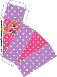 Cajitas Imprimibles de Enredados (Rapunzel)   Ideas y material gratis para fiestas y celebraciones Oh My Fiesta!