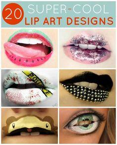 20 Super-Cool Lip Art Designs #GoConfidently www.jolenbeauty.com