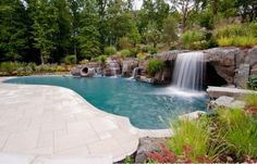 Waterfall for the pool