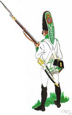 Regimiento Fijo de Ceuta. Soldado de Granaderos 1805-1809