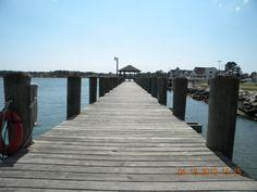 The dock at Veterans Memorial Park.