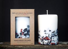 how nice on a cold winter day....Icelandic soy wax candle Rowan berry with 2000 years old by Railis, $19.00