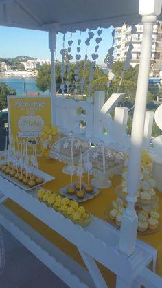 Candy Bar para cumpleaños #cumpleaños #adultos #amarillo #candybar