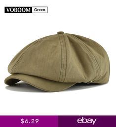 30829dcfa1f VOBOOM Green Newsboy Cap Mens Cotton 8 Panel Gatsby Cap Summer Breathable  LXL