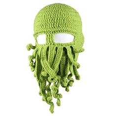 ASC Unisex Barbarian Knit Beanie Octopus (One size, Green)