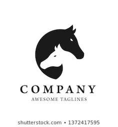 Animal Graphic, Animal Logo, Letterhead Logo, Horseshoe Logo, Elegant Logo Design, Logo Samples, English Verbs, Horse Logo, Beauty Logo