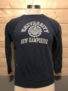 Vintage 1980's University of New Hampshire Sweatshirt 50/50 Thin and Soft T-Shirt by 413productions on Etsy