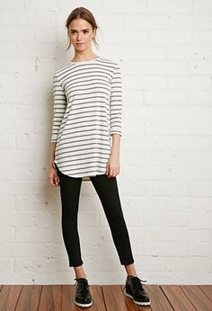 Ribbed Stripe Longline Top | Forever 21 | #thelatest