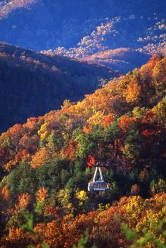 I have only seen it in the summer and it is breathtaking then......can't imagine in the Fall w/all the colors, or the Spring when the azaleas and rhodies are in bloom!   GATLINBURG, TN...