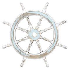 Captain's Wheel Wall Decor // a bit of #nautical fun #designtrend
