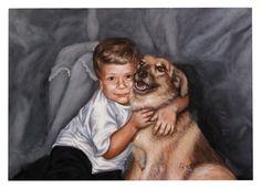 """retrato """"Amigos"""" Matheus e Vigário -"""
