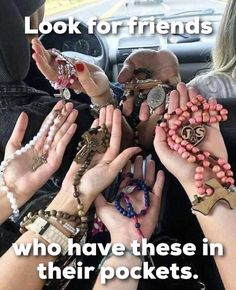 Looking For Friends, Holy Rosary, Blessed Virgin Mary, Blessed Mother, Mother Mary, Religious Images, Weapon, Thoughts, Sayings