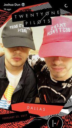 Tyler and Josh on Josh's Snapchat