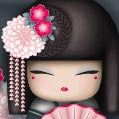 Kimmidoll Momiji Doll, Kokeshi Dolls, Japanese Culture, Japanese Art, Japanese Doll, Tatoo Rose, Image Deco, Japanese Quilts, Stencil Painting