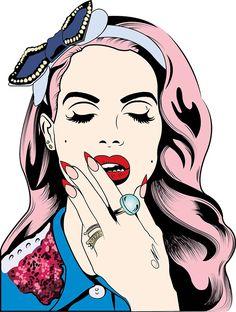 Lana Del Rey - Pop Art /Behance