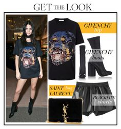 """Celebrity Look -Kendall Jenner"" by monmondefou ❤ liked on Polyvore featuring Givenchy, Yves Saint Laurent, black, celebrity, CelebrityLook, kendalljenner and CelebrityStyle"