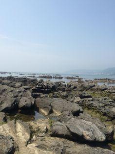 Rocky shores at Johgashima island, Japan.