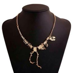 HOST PICK Gold dinosaur skeleton necklace Brand new with tags Jewelry Necklaces