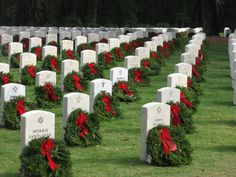 Wreaths Across America Wreaths Across America, Tears Of Sadness, National Cemetery, God Bless America, Brave, Cap, American, Places, Photos