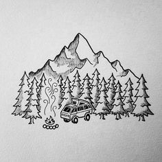 Here's a fun illustration I did for @vanagonlife a little while ago! #drawing #art #penandink #micron #doodle #doodling #design #illustration #illustree #linework #trees #camping #campvibes #vanlife #vanagonlife #iblackwork #sketchbook #vanlifediaries #westfalia #pnw #upperleftusa #portland #oregon #vanagon #homeiswhereyouparkit #mountains #adventuremobile