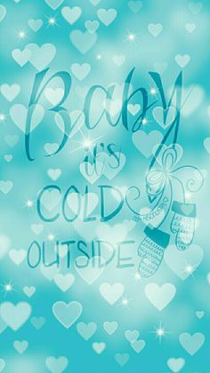 Baby it's cold outside heart bokeh wallpaper I created for the app CocoPPa.