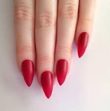 Resultado de imagem para red nail art stiletto